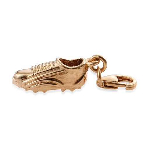 14K Gold Overlay Sterling Silver Football Boot Charm Silver wt. 2.27gms