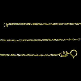 Royal Bali Collection 9K Y Gold Prince of Wales Chain (Size 18)