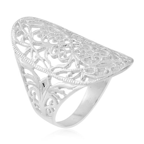 Thai Sterling Silver Filigree Ring, Silver wt 5.12 Gms.