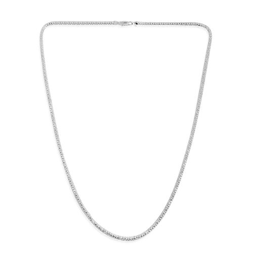Close Out Deal Sterling Silver Necklace (Size 24), Silver wt 7.50 Gms.