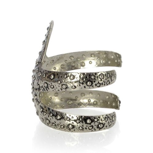 Jewels of India Handicraft Starfish Cuff Bracelet in Silvertone