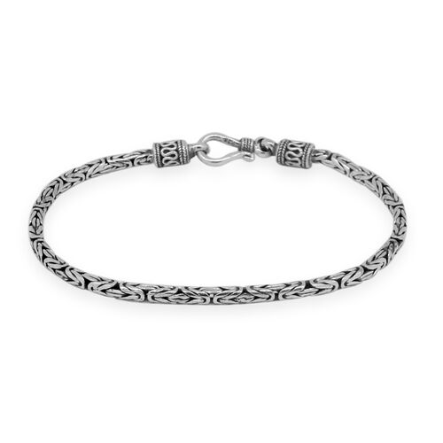 Royal Bali Collection Sterling Silver Borobudur Bracelet (Size 7), Silver wt. 9.41 Gms.