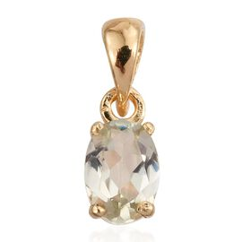 Natural Turkizite (Ovl) Solitaire Pendant in 14K Gold Overlay Sterling Silver 0.500 Ct.