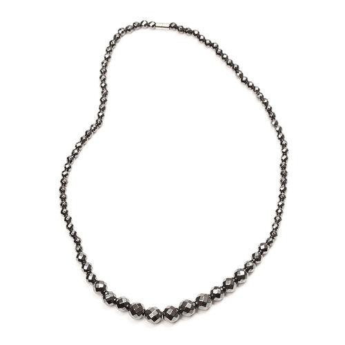 Hematite Necklace (Size 20), Hook Earrings and Bracelet (Adjustable) 255.50 Ct.