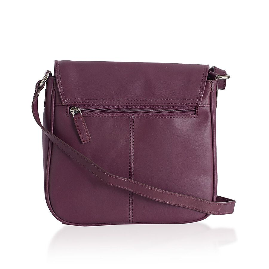 Genuine Leather Light Burgundy Colour Sling Bag With