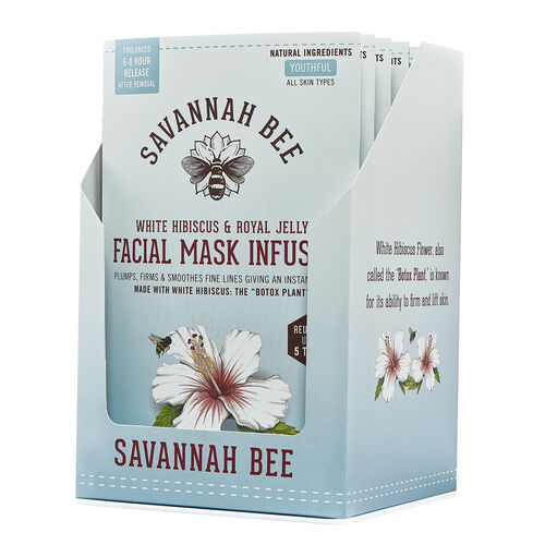 Savannah Bee White Hibiscus & Royal Jelly Facial Mask Infuser -   will be sent in 4-5 working days