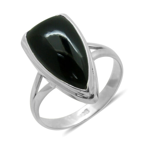 Royal Bali Collection Boi Ploi Black Spinel Solitaire Ring in Sterling Silver 8.430 Ct.