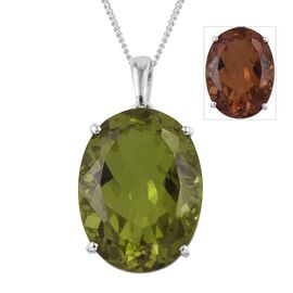 Alexite (Ovl) Pendant With Chain in Platinum Overlay Sterling Silver 17.500 Ct.