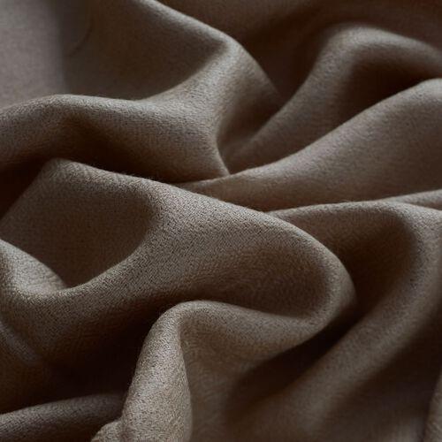 100% Fine Cashmere Wool Beige Colour Shawl (Size 200x70 Cm) 85 Gram