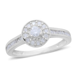 9K W Gold SGL Certified Diamond (Rnd) (I3/G-H) Ring 0.500 Ct.