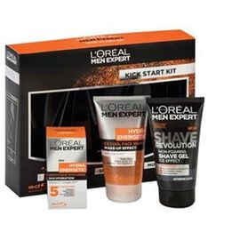 LOreal Men Expert - The Hydra Energetic Gift Set - WAKE UP GEL 150ml- SHAVE REVOLUTION 150ml- ANTI FATIGUE 50ml