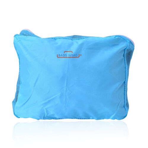 Set of 5 - Blue Colour Storage Bag (Size 36x30x13Cm, 36x28x6Cm, 31x28x5 Cm 27x20x5Cm and 30x20x10Cm)