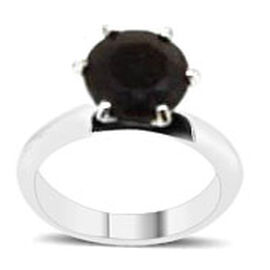 Chocolate Sapphire (Rnd) Solitaire Ring in Sterling Silver 4.750 Ct.