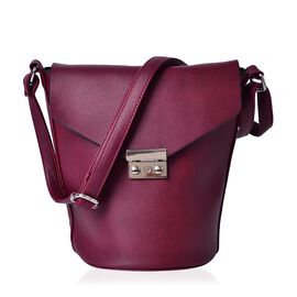 Greenwich Classic Structured Dark Red Colour Messenger Bag with Adjustable Shoulder Strap ( Size 24.5x24x16x16 Cm)