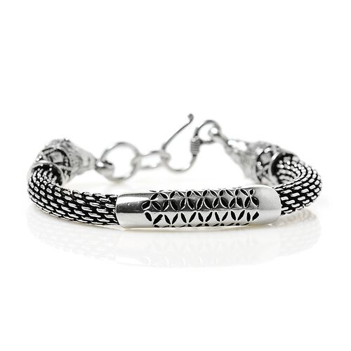 Jewels of India Sterling Silver Bracelet (Size 7.5), Silver wt 47.00 Gms.