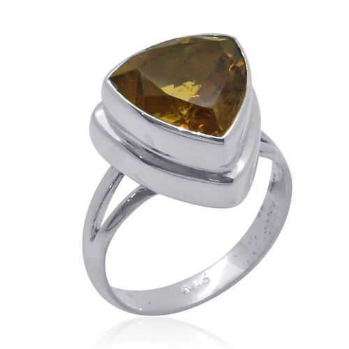 Royal Bali Collection Citrine (Trl) Solitaire Ring in Sterling Silver 3.600 Ct.