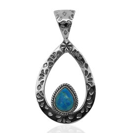 Royal Bali Collection Howlite (Pear) Solitaire Pendant in Sterling Silver 1.940 Ct.