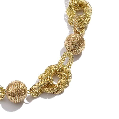 Jewels of India Zari Ball Gold Colour Necklace With Extender