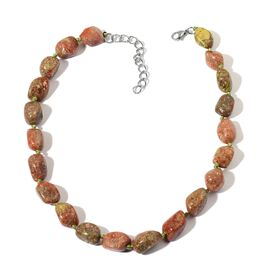 Limited Edition AAA Rare Size Picture Jasper Necklace (Size 18 with 2 inch Extender) in Stainless Steel 550.000 Ct.