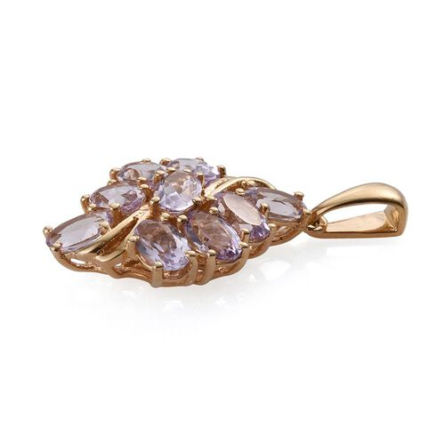 Rose De France Amethyst (Ovl) Pendant in 14K Gold Overlay Sterling Silver 3.250 Ct.