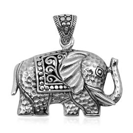 Royal Bali Collection Sterling Silver Elephant Pendant, Silver wt 9.50 Gms.