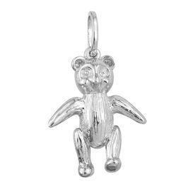 Teddy Bear Silver Charm Pendant in Platinum Overlay, Silver wt 4.00 Gms.