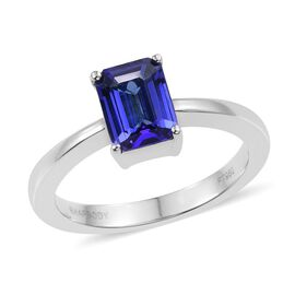 RHAPSODY 950 Platinum AAAA Tanzanite (Oct) Solitaire Ring 1.750 Ct.