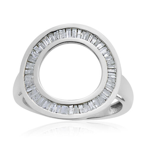 9K W Gold SGL Certified Diamond (Bgt) (I3/ G-H) Circle of Life Ring 0.500 Ct.