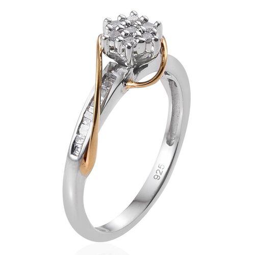 Diamond (Rnd) Ring in Sterling Silver 0.245 Ct.