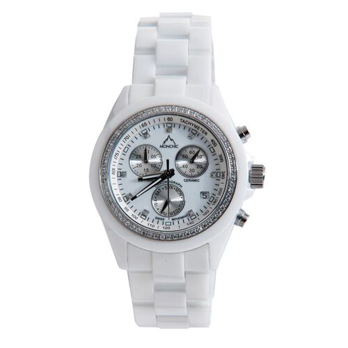 Swarovski Crystal (0.30 Ct) and Diamond Steel Mix Metal Watch  0.305  Ct.