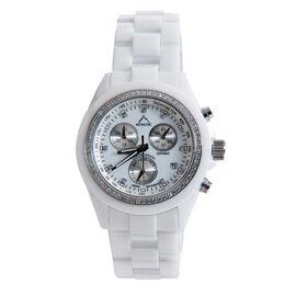 MONCHIC High Tech. Ceramic Chronograph Swiss Movement Sapphire Crystal, Diamond, Swarovski Crystal Dial Watch
