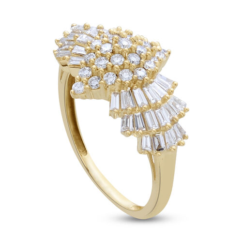 ILIANA 18K Y Gold IGI Certified Diamond (Rnd) (SI/G-H) Ring 1.000 Ct.