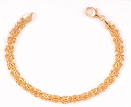 Close Out Deal 14K Y Gold Byzantine Necklace (Size 18), Gold wt 10.20 Gms.