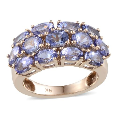 9K Y Gold Tanzanite (Ovl) Ring 3.650 Ct.