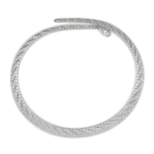 Vicenza Collection Rhodium Plated Sterling Silver Cleopatra Chain (Size 18), Silver wt 27.00 Gms.