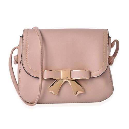 Khaki Colour Crossbody Bag with Shoulder Strap (Size 21.5x17x6.5 Cm)