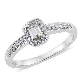 RHAPSODY 950 Platinum 0.50 Carat SGL Certified Diamond VS/E-F Octagon Ring
