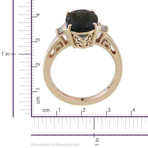 9K Y Gold Ocean Blue Apatite (Ovl 4.52 Ct), Diamond Ring 4.300 Ct.
