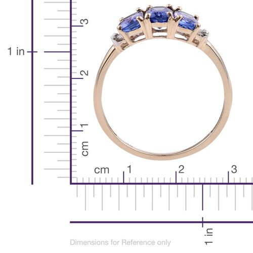 9K Y Gold Tanzanite (Cush), Diamond Ring 1.750 Ct.