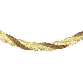 Close Out Deal 9K Y Gold Fancy 3 Strand Herringbone Necklace (Size 17), Gold wt 6.00 Gms.