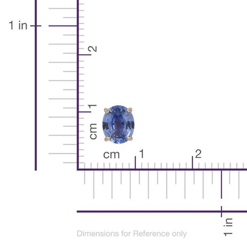 Limited Available-9K Y Gold Ceylon Blue Sapphire (Ovl) Stud Earrings (with Push Back) 1.500 Ct.