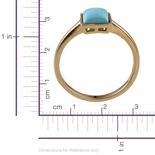 Arizona Sleeping Beauty Turquoise (Sqr) Solitaire Ring in 14K Gold Overlay Sterling Silver 1.750 Ct.