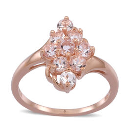 Marropino Morganite (Rnd) Ring in 14K Rose Gold Overlay Sterling Silver 1.000 Ct.