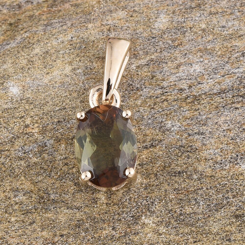 9K Y Gold Jenipapo Andalusite (Ovl) Solitaire Pendant 1.150 Ct.