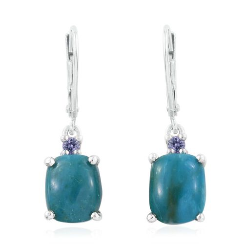 Opalina (Cush), Tanzanite Lever Back Earrings in Platinum Overlay Sterling Silver 4.000 Ct.
