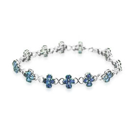 Tanzanite (Ovl) Bracelet in Sterling Silver (Size 8) 16.320 Ct.