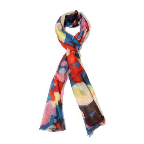100% Modal Digital Print Multi Colour Scarf (Size 180x70 Cm)