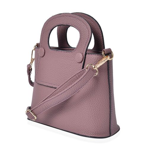 Purple Colour Tote Bag with Adjustable and Removable Shoulder Strap (Size 20.5x15x9 Cm)