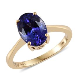 ILIANA 18K Yellow Gold 4.75 Carat AAA Tanzanite Solitaire Ring