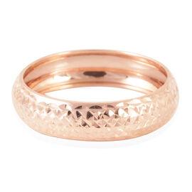 Royal Bali Collection 9K Rose Gold Diamond Cut Band Ring